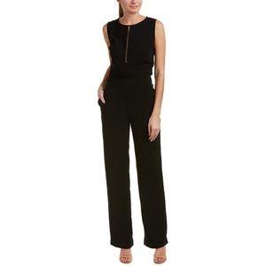 Cabi Grace Jumpsuit Sz 4 Black Gold Zip Sleeveless